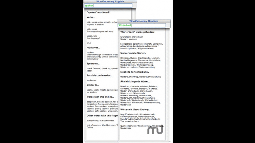 WordSecretary English for Mac - review, screenshots
