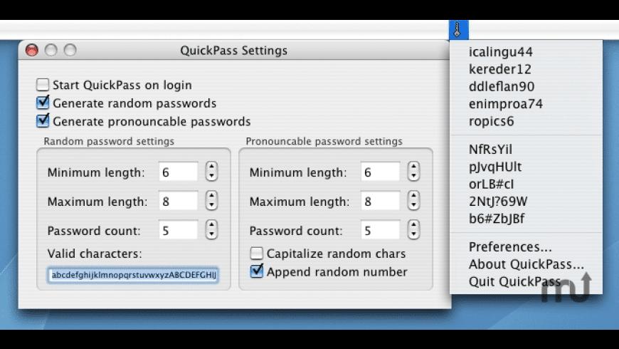 QuickPass for Mac - review, screenshots