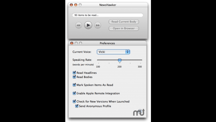 NewsHawker for Mac - review, screenshots