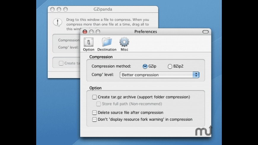 GZipanda for Mac - review, screenshots