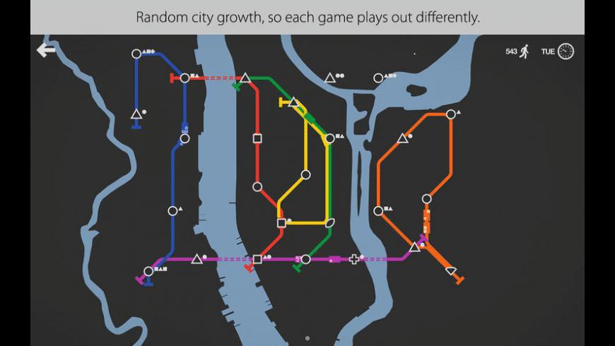 Mini Metro for Mac - review, screenshots