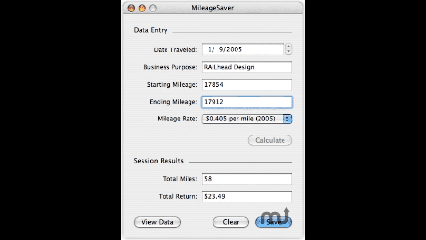 MileageSaver for Mac - review, screenshots