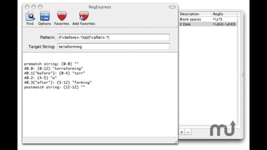 RegExpress for Mac - review, screenshots