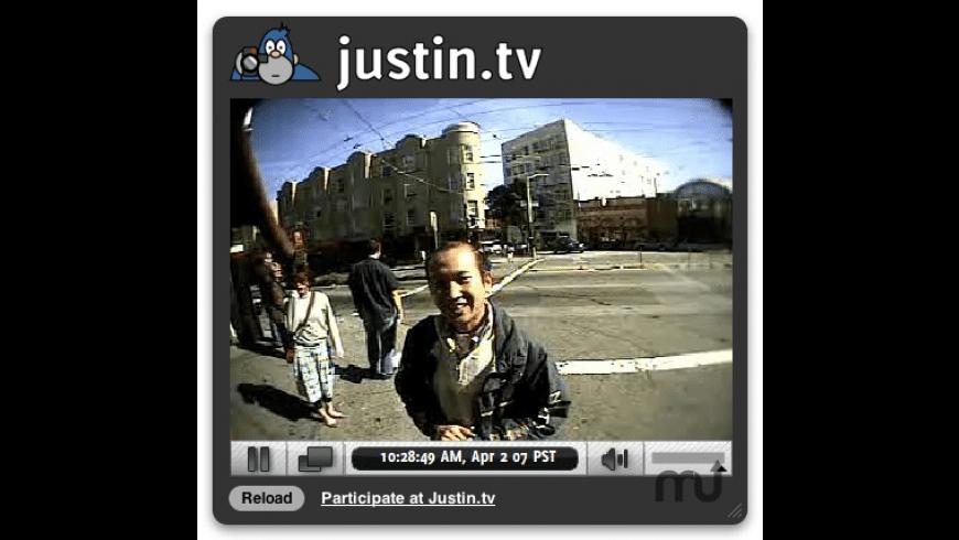 justin.tv Widget for Mac - review, screenshots