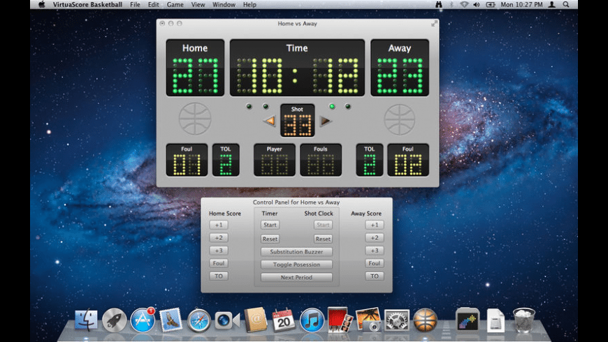 VirtuaScore Basketball for Mac - review, screenshots