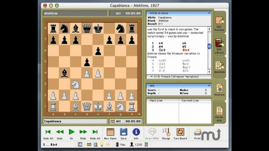 HIARCS chess engine for Mac - review, screenshots
