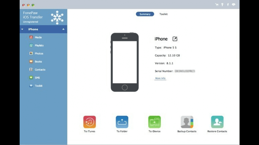 FonePaw iOS Transfer for Mac - review, screenshots