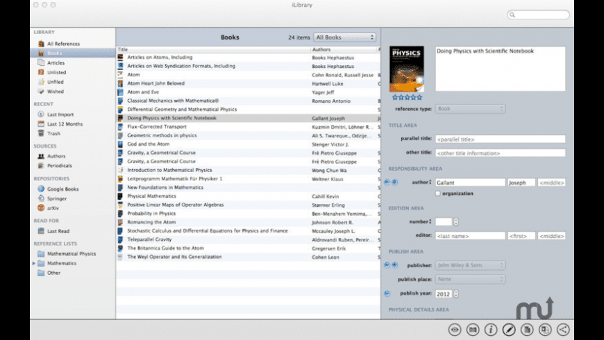 iLibrary for Mac - review, screenshots