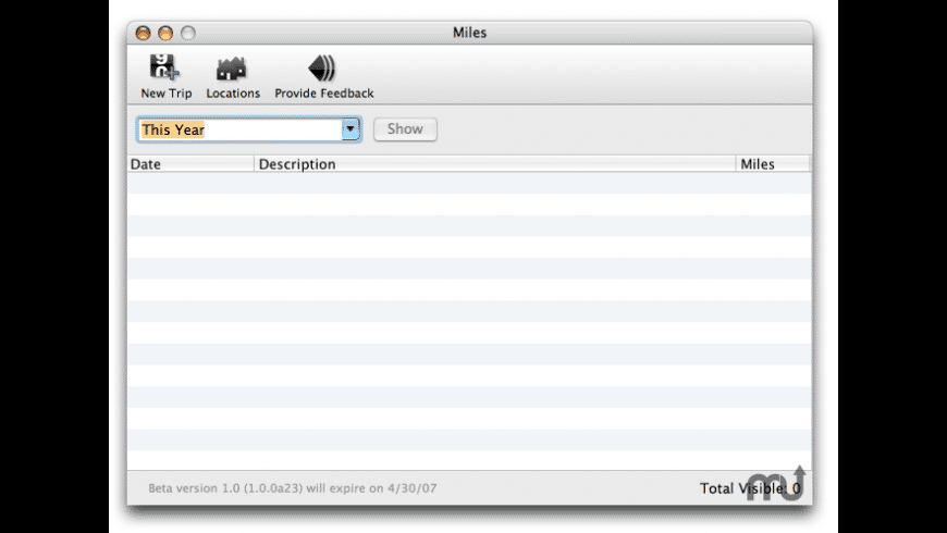 Miles for Mac - review, screenshots