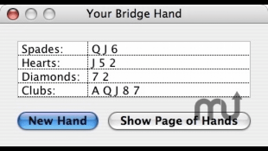 Bridge Hands for Mac - review, screenshots
