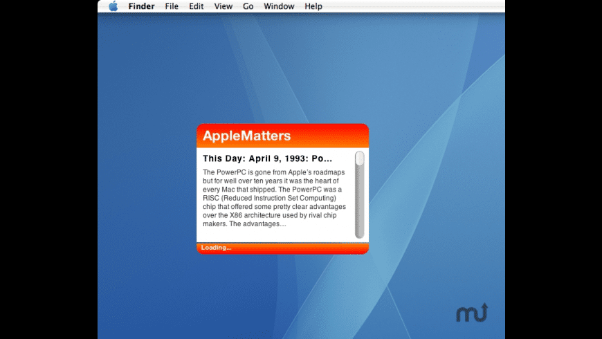 AppleMatters Widget for Mac - review, screenshots