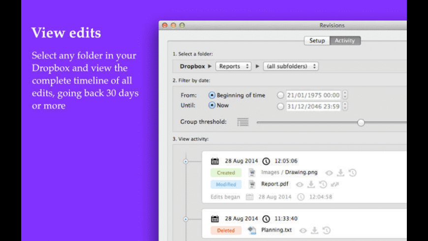 Revisions for Mac - review, screenshots