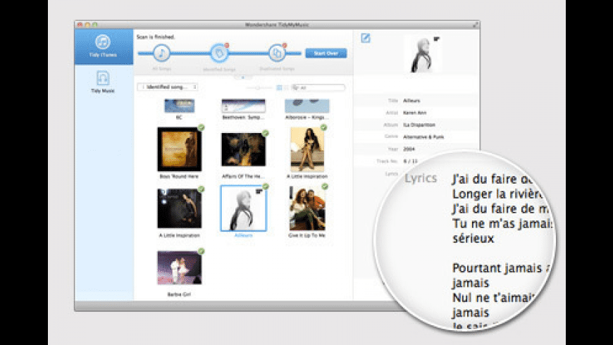 TidyMyMusic for Mac - review, screenshots