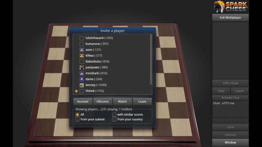 SparkChess for Mac - review, screenshots