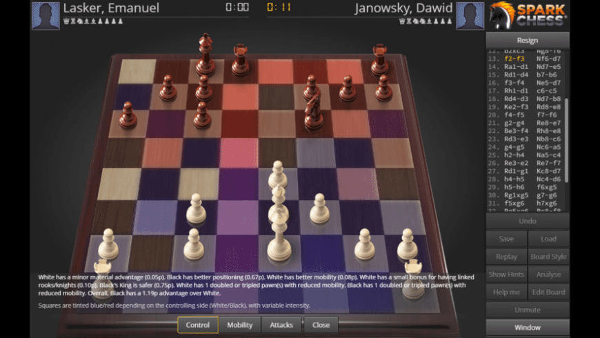 SparkChess for Mac - review, screenshots