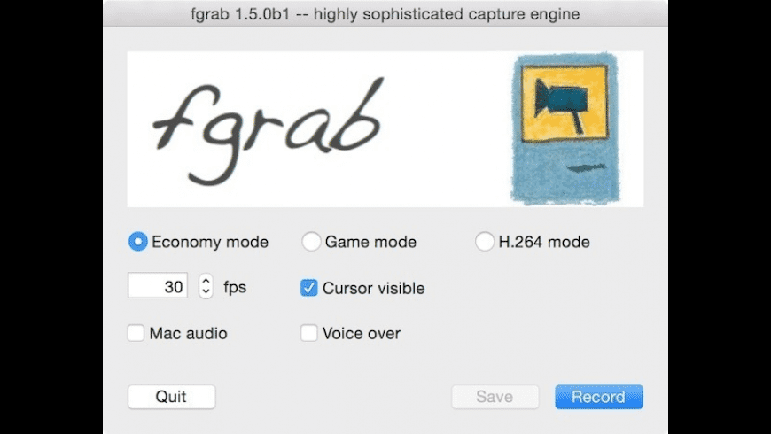 fgrab for Mac - review, screenshots