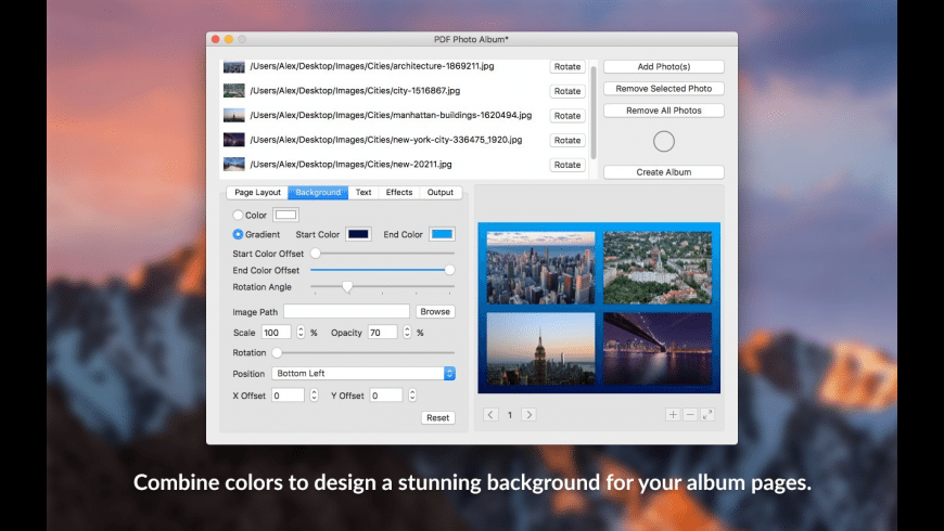 PDF Photo Album for Mac - review, screenshots