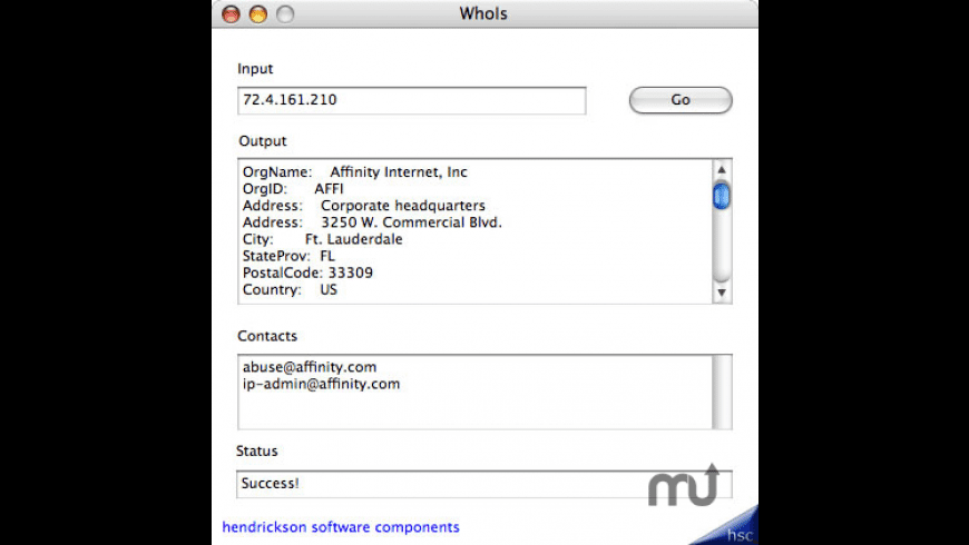 WhoIs for Mac - review, screenshots
