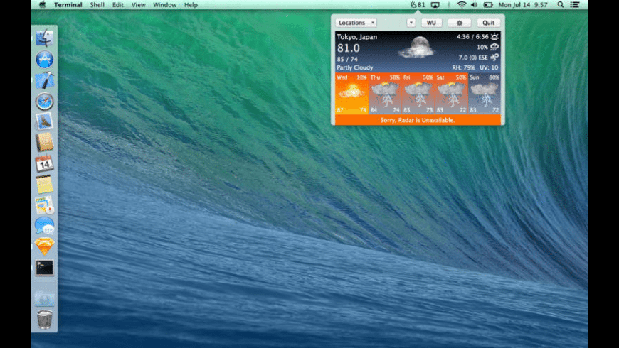 WeathrClip for Mac - review, screenshots
