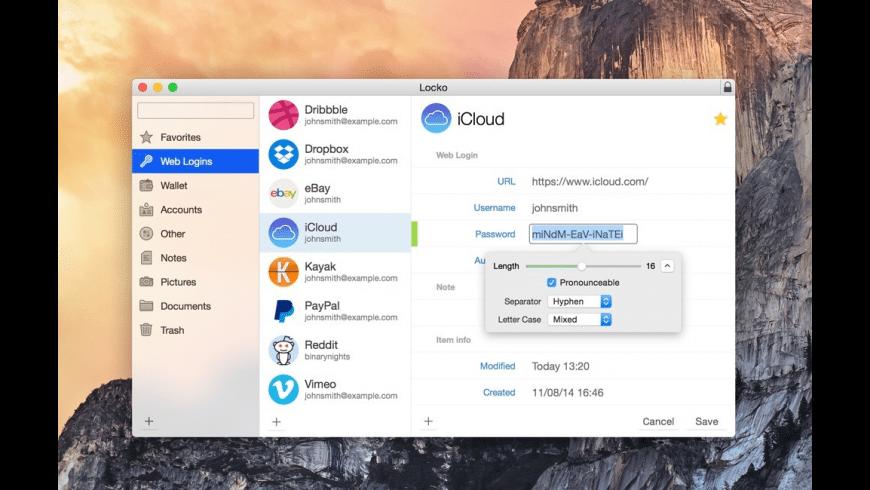Locko for Mac - review, screenshots