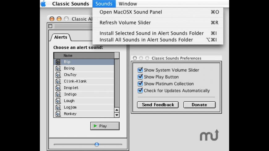 Classic Sounds for Mac - review, screenshots