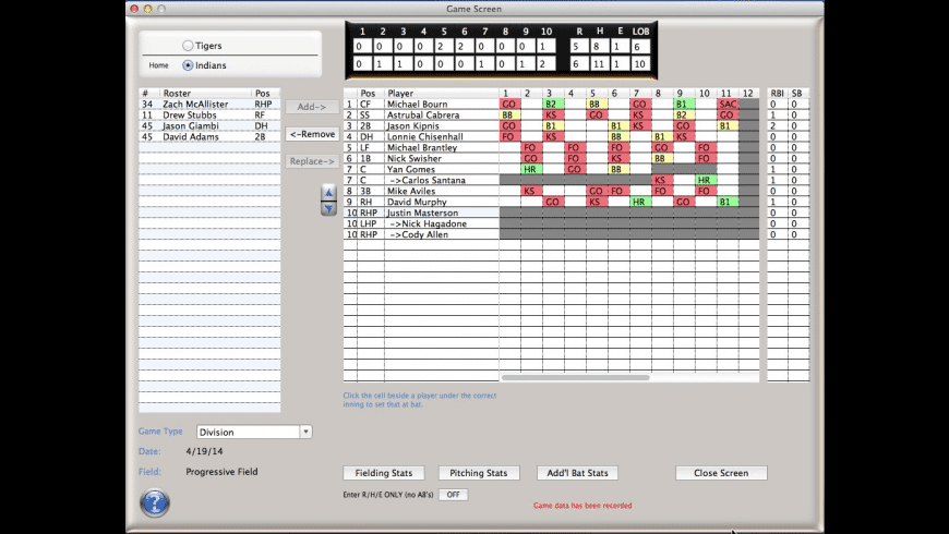 CoachStat Baseball for Mac - review, screenshots
