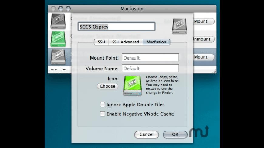 MacFusion for Mac - review, screenshots