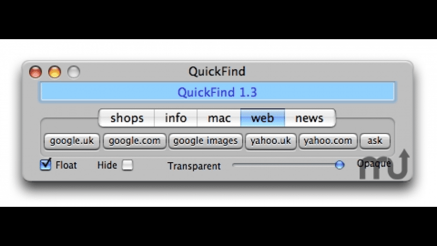 QuickFind for Mac - review, screenshots