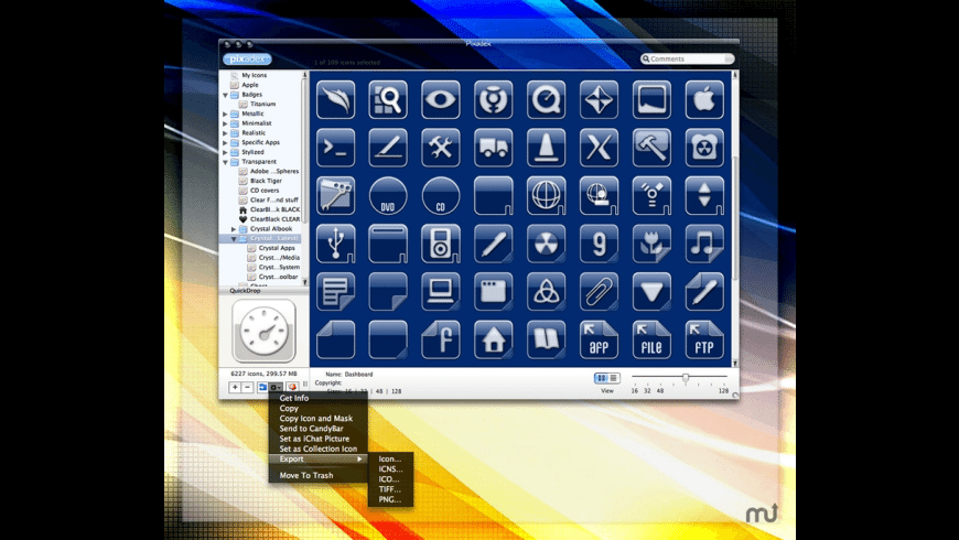 Crystal Albook Icon Set for Mac - review, screenshots