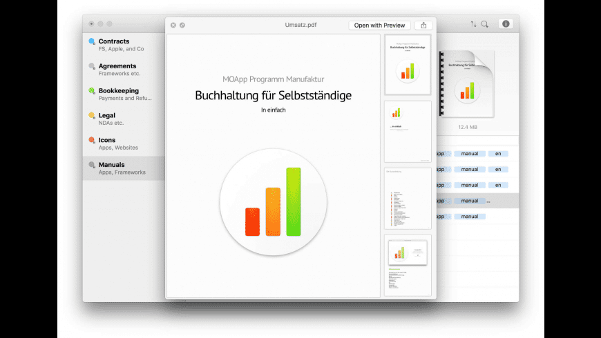 GoBDokumente for Mac - review, screenshots