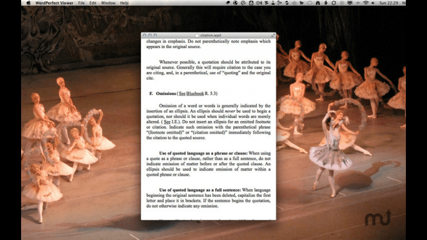 WordPerfect Document Viewer for Mac - review, screenshots