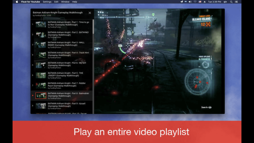 Float for Youtube for Mac - review, screenshots