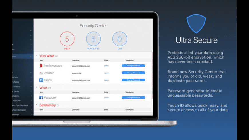mSecure for Mac - review, screenshots