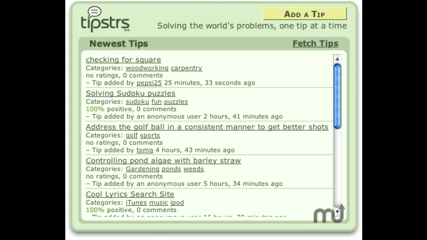 tipstrs for Mac - review, screenshots