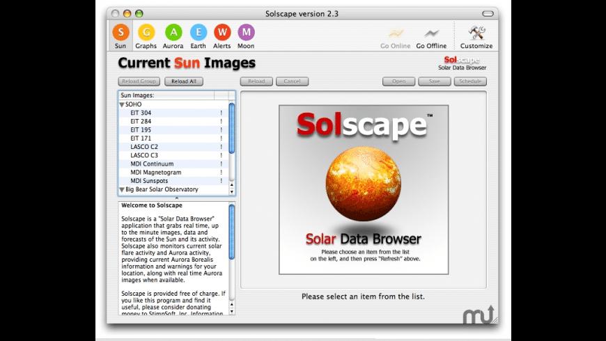 Solscape for Mac - review, screenshots