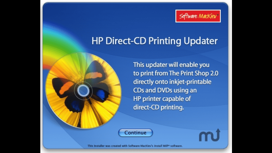 HP Direct-CD Printing for Mac - review, screenshots