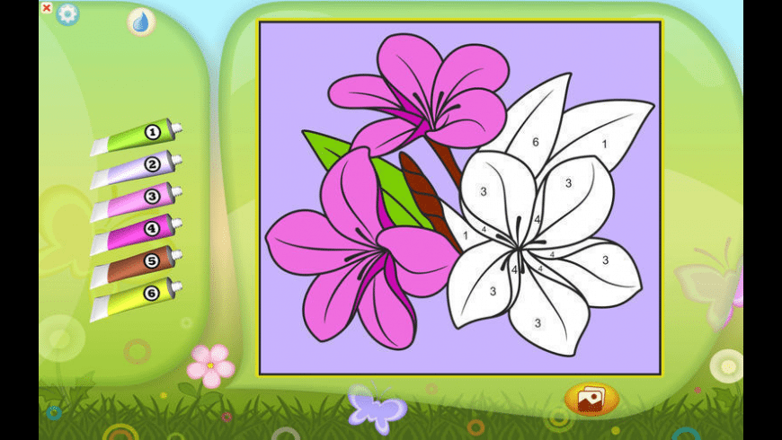 Color by Numbers - Flowers for Mac - review, screenshots