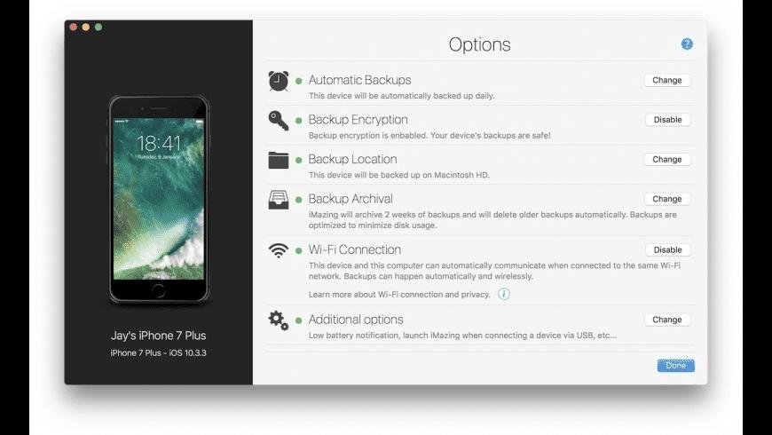 iMazing Mini for Mac - review, screenshots