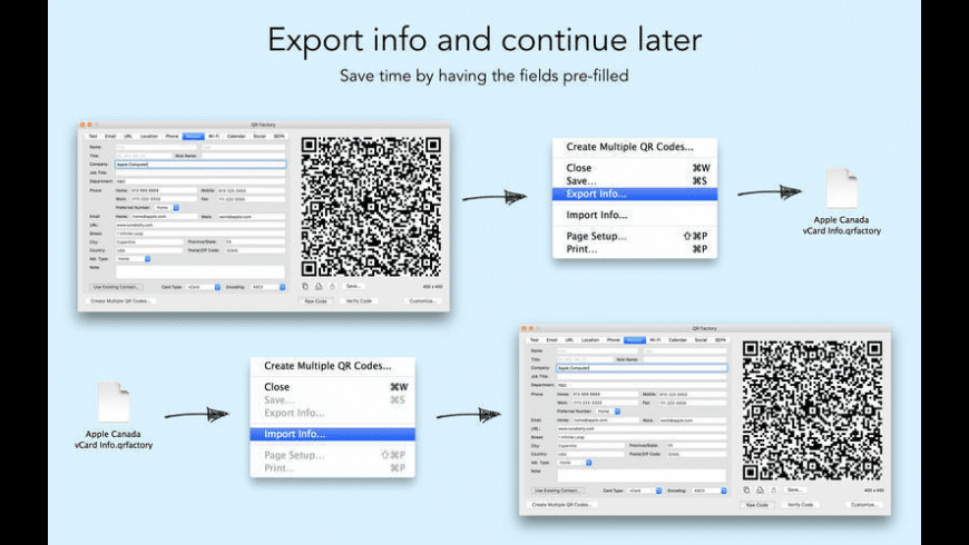 QR Factory for Mac - review, screenshots