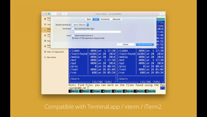 SSH Shell for Mac - review, screenshots