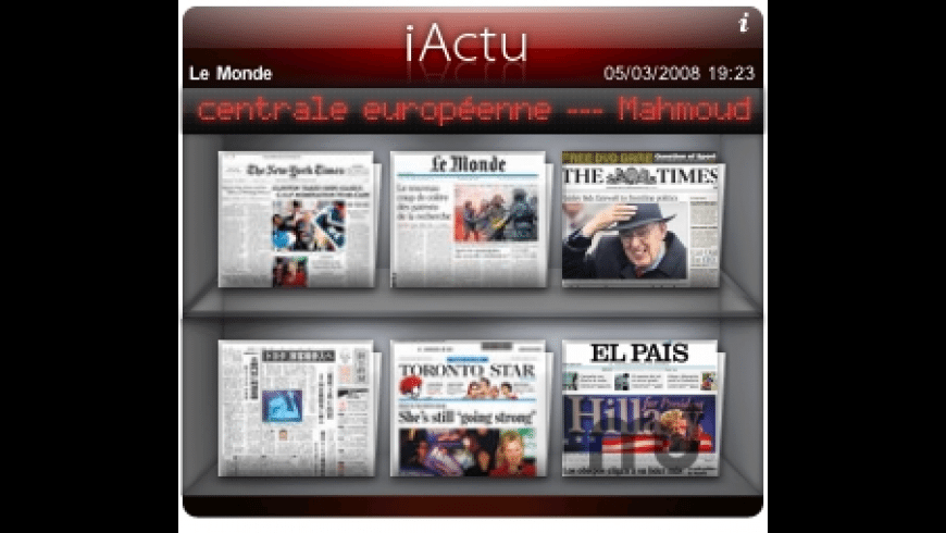 iActu for Mac - review, screenshots
