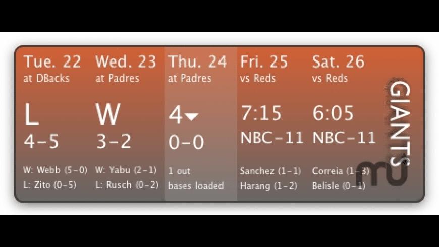 MLB Schedule for Mac - review, screenshots