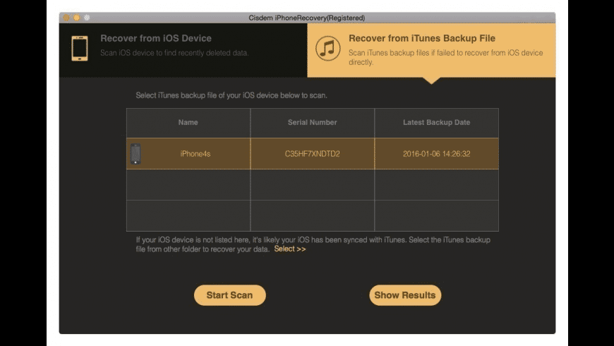 Cisdem iPhone Recovery for Mac - review, screenshots