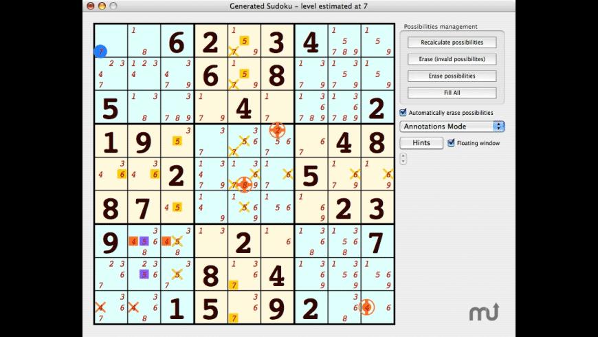 SudokuX for Mac - review, screenshots
