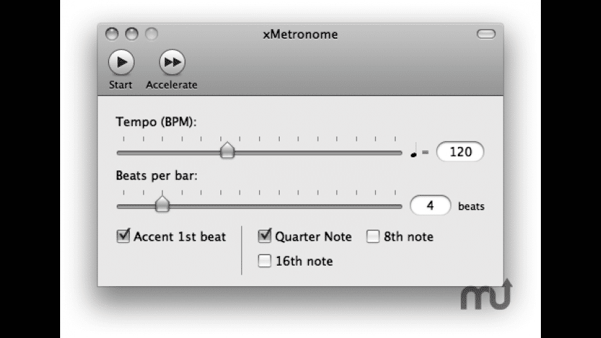 xMetronome for Mac - review, screenshots