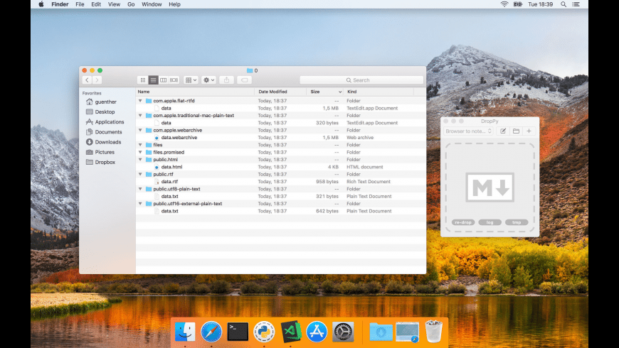 DropPy for Mac - review, screenshots