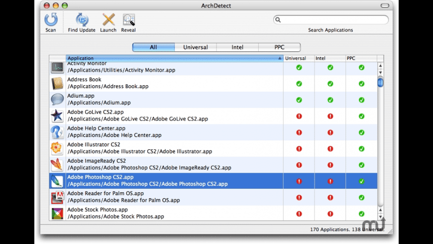 ArchDetect for Mac - review, screenshots