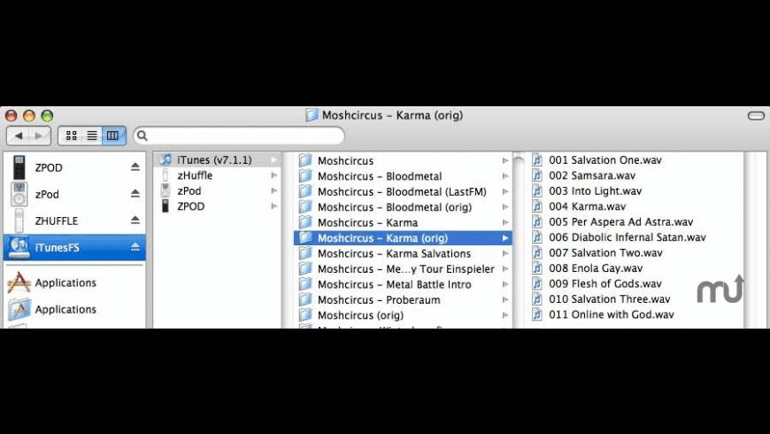 iTunesFS for Mac - review, screenshots