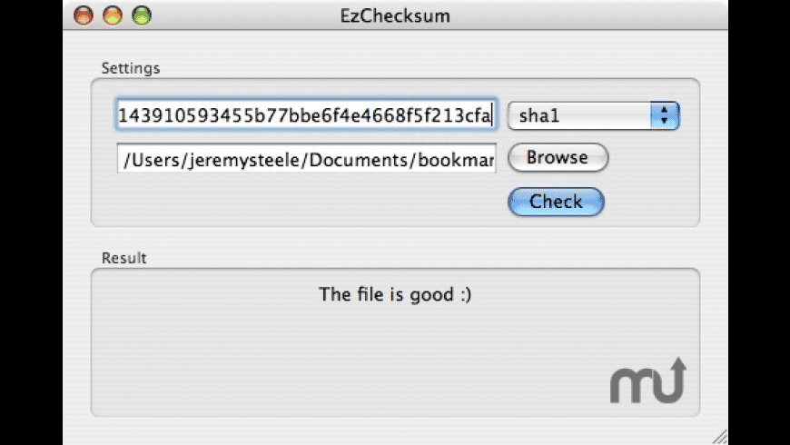 EzChecksum for Mac - review, screenshots