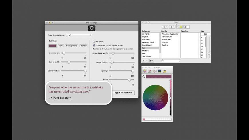 Annotatings for Mac - review, screenshots